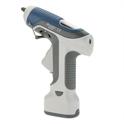 Walmeck Pro'sKit GK-368 6V Battery Cordless Hot Melt Glue Gun Block Gine LED Lighting For DIY Model Living Craft by Walmeck (Image #1)
