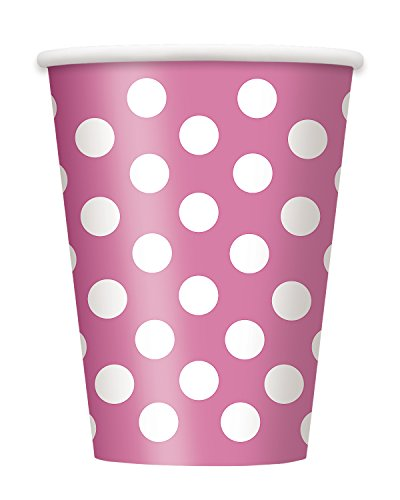 [Candy Pink Polka Dot 12 oz Hot/Cold Cups (6 ct)] (Group Of 6 Costume Ideas)