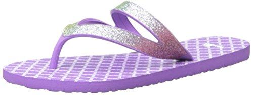 Sanuk Kids Lil Selene Crystal Flip Flop (Toddler/Little Kid/Big Kid), Rainbow/Hot Orchid, 4/5 M US Big - Sandals Crystal Rainbow