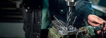 108 x 13.5 x 160 mm Heller Tools 215497 Foret Acier 0904 avec Queue d/égag/ée en HSS Noir