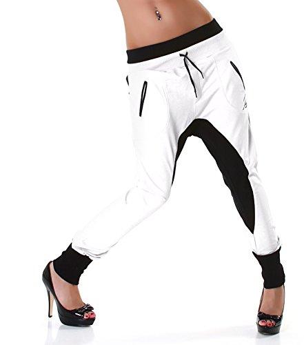 JELA London - Pantalón - para mujer Negro Blanco