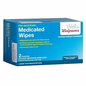 Amazon com: Walgreens Pre-Moist Medicated Wipes, 96 ea