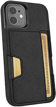 Smartish iPhone 12 Mini Wallet Case - Wallet Slayer Vol. 2 [Slim Protective Kickstand] Credit Card Holder (Sil