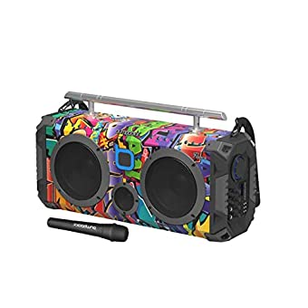 Graffiti Retro Boombox with Bluetooth Speaker