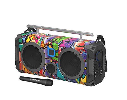 Graffiti Retro Boombox with Bluetooth Speaker
