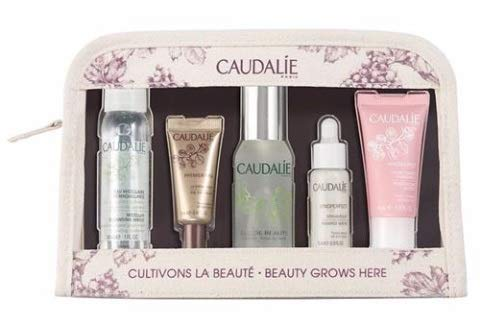 CaudalÍe Favorites Gift Set. Complete Beauty Skin Care Routine for Brightening, Moisturizing, Anti-Aging, and Sensitive Skin (5 Piece Travel Set)