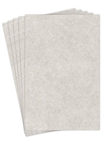 Stationery Parchment , 65lb. Cover Stock 11 X 17 Inches, 50 Sheets (New Smoke Gray)
