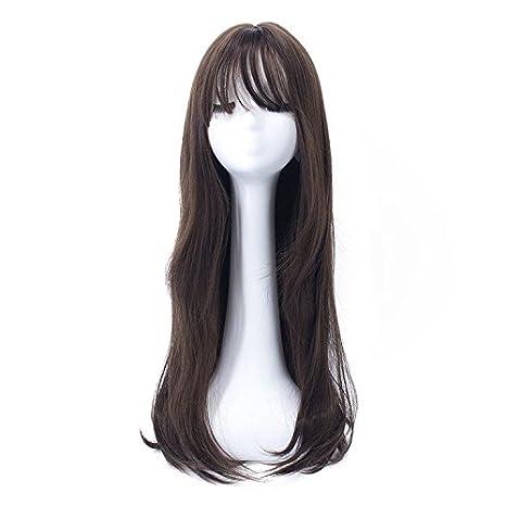 Pelucas Cosplay peluca de rizo de 68cm / 26.7 pulgadas para mujeres con gorra de peluca