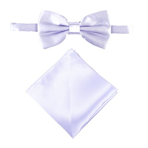 Satin Set Pocket Lilac Stylish Tie Men's Bow or amp; Boy's Handkerchief qMHxfFSR1y