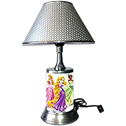 JS Disney Princess Lamp with Chrome Shade, 8