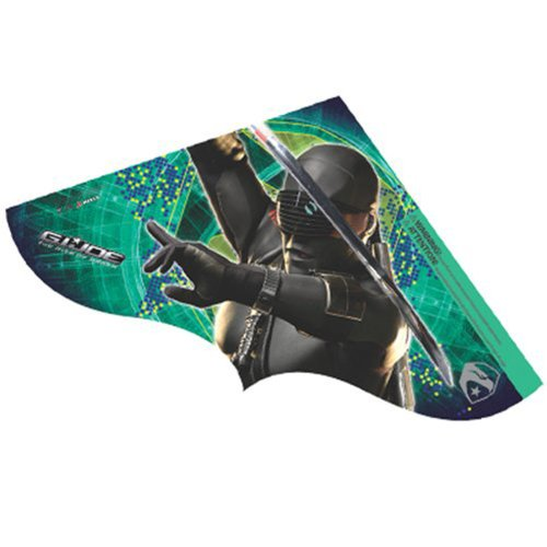 G.I Joe Rise of Cobra Snake Eyes Childrens SkyDelta Kite (42 Inch)