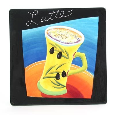 Coffee Plate - Latte by Mary Naylor