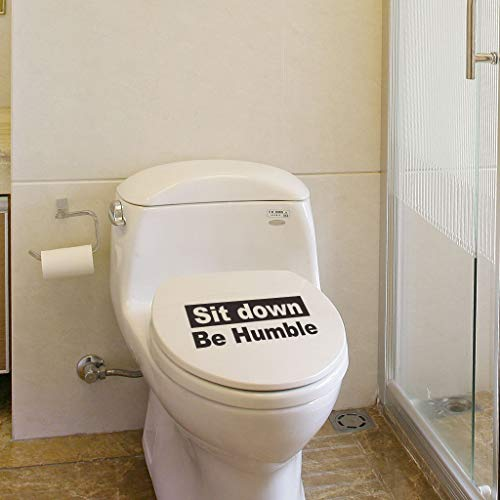Decorative Wall Sticker - Toilet Sign Creative Stickers Wall/Waterproof/Removable/Self-Adhesive Wall Window Decoration, Vinyl Decal Background Sticker