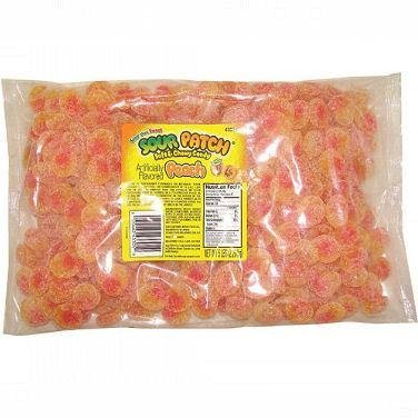 Sour Patch - Peaches, 5 lbs (Peach Gummy Sour)