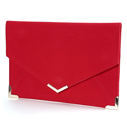 Bandouliere Soiree Rouge noir TOOGOO Sac flannel Baguette Main Enveloppe R a Pochette Mariage Besace n7HT7w0zOx