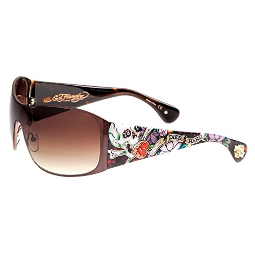Ed Hardy EHS Roxy Sunglasses, Tortoise