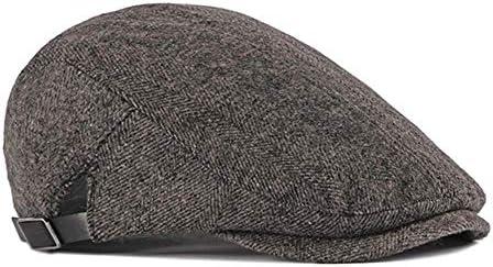 FADVES ハンチング帽 メンズ キャスケット ベレー帽 紳士帽 春秋冬 サイズ調整可 日除け帽子 無地 スウェット 防寒 保温 アウトドア キャップ 敬老の日 クリスマス プレゼント