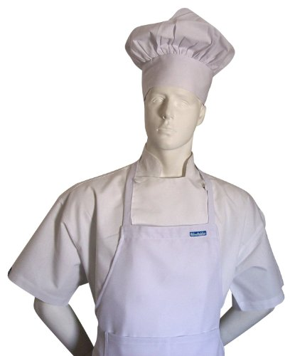 [Chef White Adult Set Apron + Hat Chef Costume Fits Most Adults New the Best Party Favor , Made of Real Fabric, You Can Mark, Draw, Iron-on] (Costumes Pizza Hat)