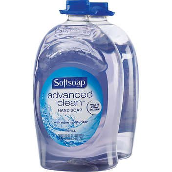 Softsoap Handsoap, Refill, Washes Away Bacteria, 80 Fl Oz (Pack of 2) (Liquid Softsoap Dispenser)