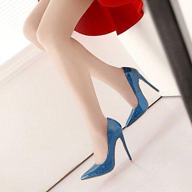 Talones de las mujeres Primavera Verano Otoño Invierno Otro de cuero banquete de boda y vestido de noche del tacón de aguja Otros Azul Rojo Sliver Sliver