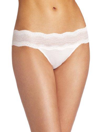 Cosabella Women's Dolce Vita Low Rise Bikini Panty, Ice Pink, Large