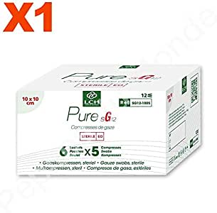 Compresas de gasa estéril 12 capas, 10 x 10 cm paquete de 6 ...