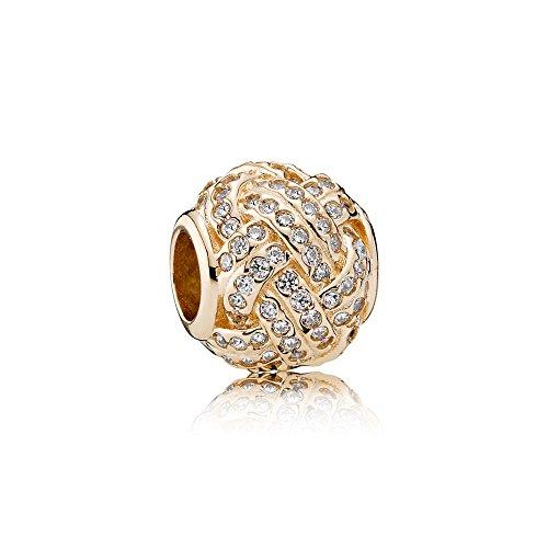 Sparkling Love Knot 14K...