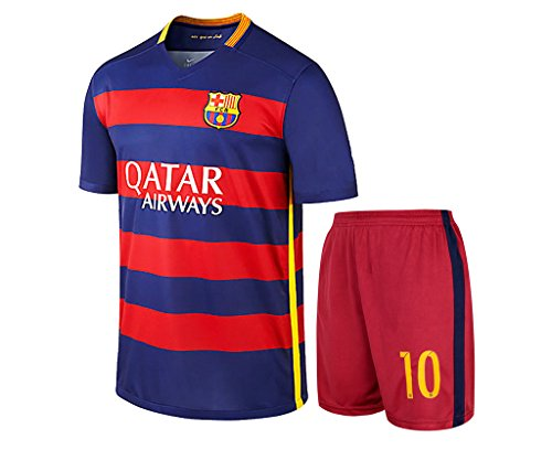 cb8e04d7a Adult FC BARCELONA Messi NO.10 Men s Soccer Jersey   Shorts Medium - Buy  Online in UAE.