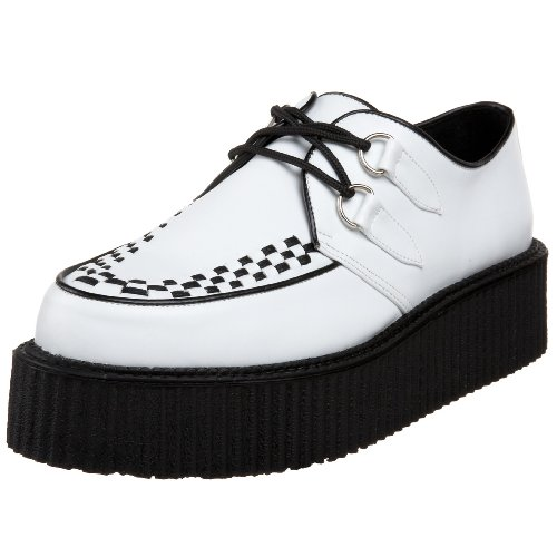 Pleaser Mens V-creeper-502 Veggie Creeper White