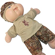 Cabbage Patch Doll Clothes 14 Inch or Preemie Girl Brown Fall Jumper and Blouse Clothes Only