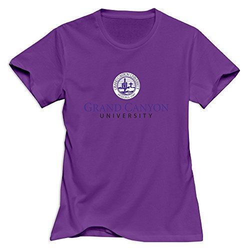 Purple Casual Grand Canyon University T-shirts For Womens Size L