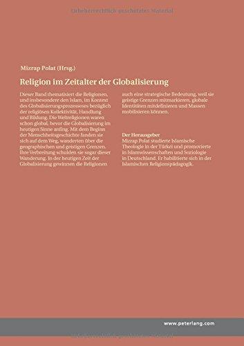 Religion im Zeitalter der Globalisierung: Mit besonderem Fokus auf Kollektivität und Bildung im Islam (German Edition)