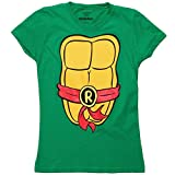 Teenage Mutant Ninja Turtles TMNT Raphael Costume Juniors T-Shirt (Medium)