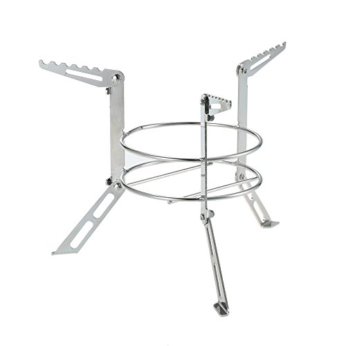 Embiofuels Portable Stainless Steel Camping Stove Stand Outdoor Alcohol Stove Rack Legs Support CPJ-13 Wood Stove Stand Cooking Equipment