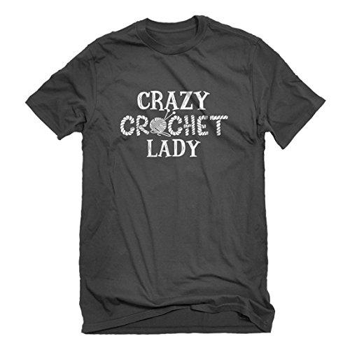 (Indica Plateau Mens Crazy Crochet Lady X-Large Charcoal Grey T-Shirt)
