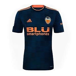 adidas Valencia CF Segunda Equipación 2018-2019 Niño, Camiseta, Collegiate Navy-Semi Solar Orange, Talla 152