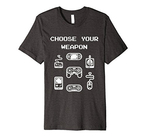 Mens Retro Gaming T-shirt: Choose Your Weapon Classic...