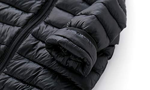 CECORC Winter Coats Kids Hoods (Padded) Light Puffer Jacket Outdoor Warmth, Travel, Snow Play | Girls, Boys | Baby, Infants, Toddlers, (12-18-24 Months(100), Black)