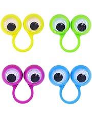 Tomaibaby 10 Stks Oog Vingerpoppetjes Googly Ogen Ringen Oogballen Ring Speelgoed Voor Kinderen Kinderen Halloween Party Gunst Speelgoed (Willekeurige Kleur)