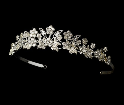 (Marielle Floral Bridal Wedding Bridal Tiara)