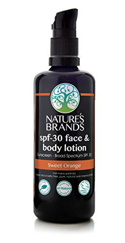 (Herbal Choice Mari Natural SPF 30 Face & Body Lotion, Sweet Orange; 3.4floz)