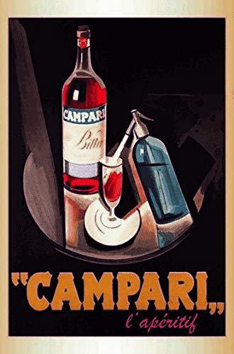 Deko 7 - Cartel de Chapa (30 x 20 cm), diseño de Campari ...