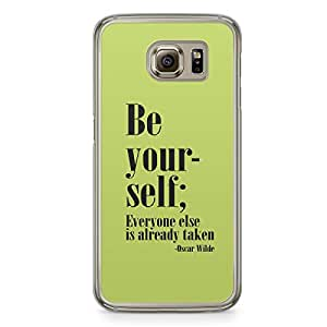 Be yourself Samsung Galaxy S6 Transparent Edge Case