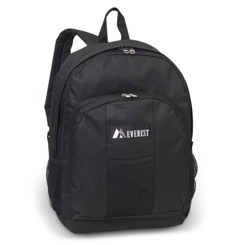 Everest Backpack w/ Front & Side Pockets Color: Black