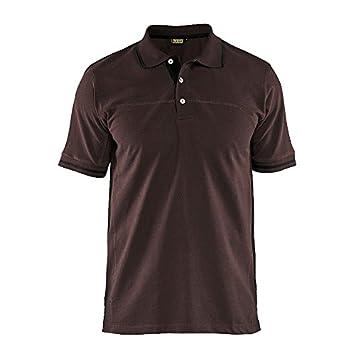 Blakläder 338910507899 X L Polo Shirt Tamaño en Color marrón/negro ...