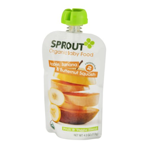 Apple, Banana and Butternut Squash Squeezable Snack 4 Ounces