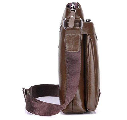 Bolsa De Bolsa De Hombre De Hombro Bolso De Moda Mochila Informal Brown1