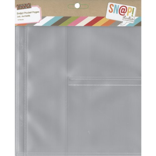 Simple Stories 6x8-inch Page Protectors with (1) 2x8-inch & (2) 4x4-inch Divided Pockets, 10-Pack