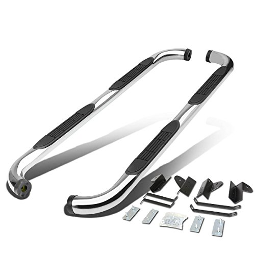 For Ford F150 10th Gen Supercrew Cab 3 inches Side Step Nerf Bar Running Board (Chrome)