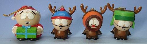 Click for larger image of Kurt Adler Set of 4 South Park Kenny, Cartman, Stan & Kyle Christmas Ornaments